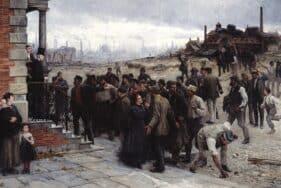 La Grève au pays de Charleroi , Robert Koehler, 1886, Deutsches Historisches Museum, Berlin